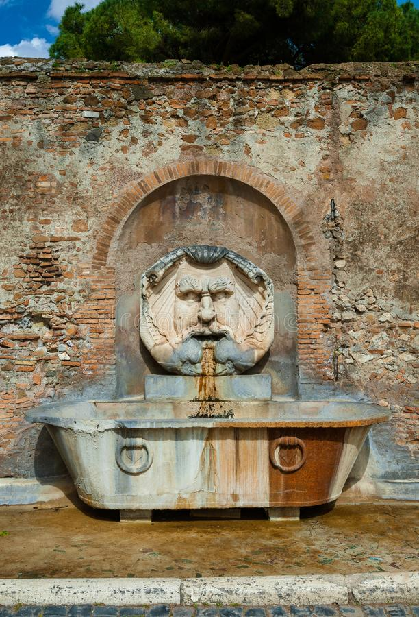 Aventine wzgórza fontanna fotografia royalty free
