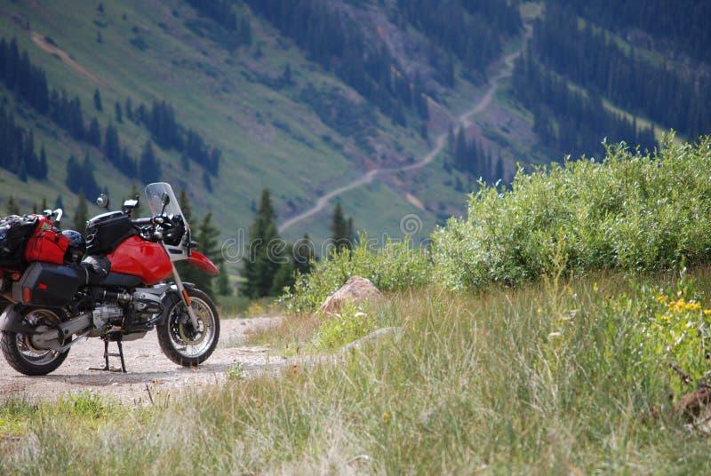 Aventura da motocicleta fotografia de stock royalty free