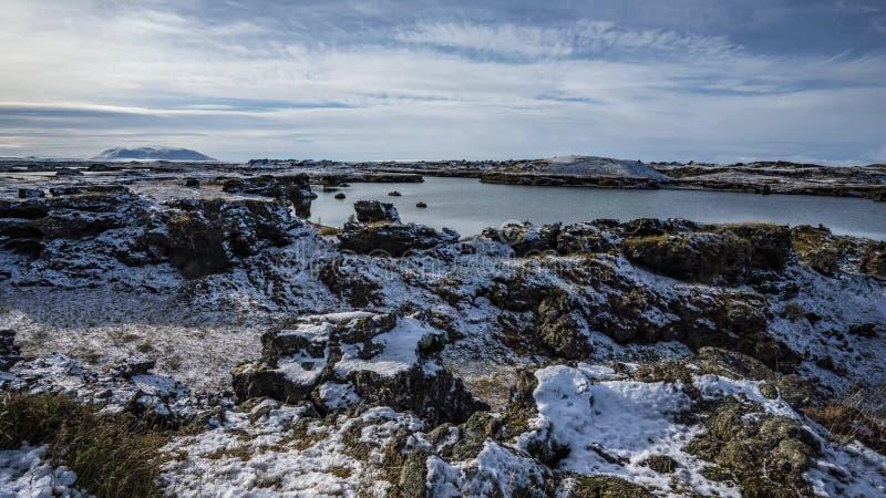 Aventura da paisagem de Islândia fotos de stock
