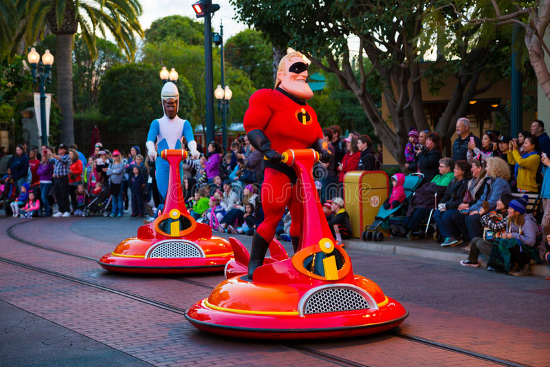 Aventura de California del desfile de Disney Pixar imagen de archivo libre de regalías