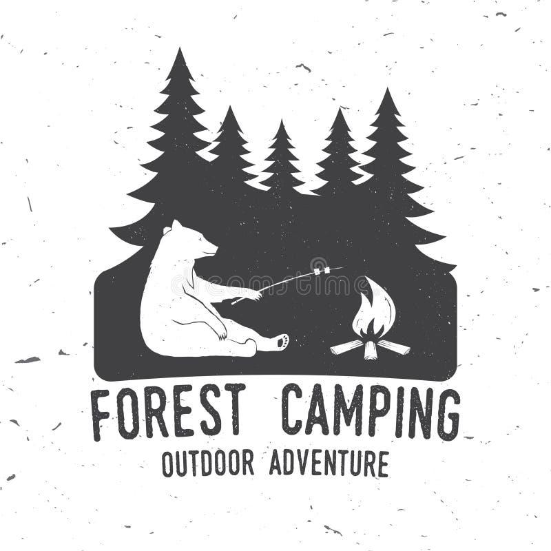 Aventura del extremo de Forest Camping Ilustración del vector libre illustration