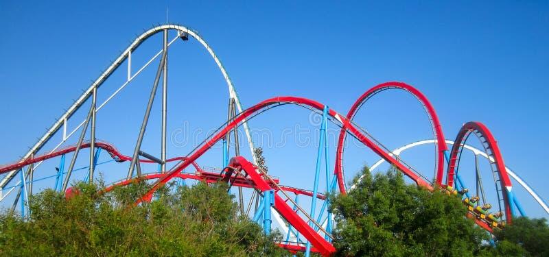 Aventura del rodillo Coaster.port fotografía de archivo