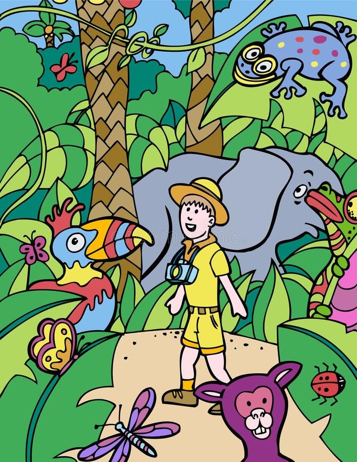 Aventura dos miúdos: Fotógrafo ilustração stock