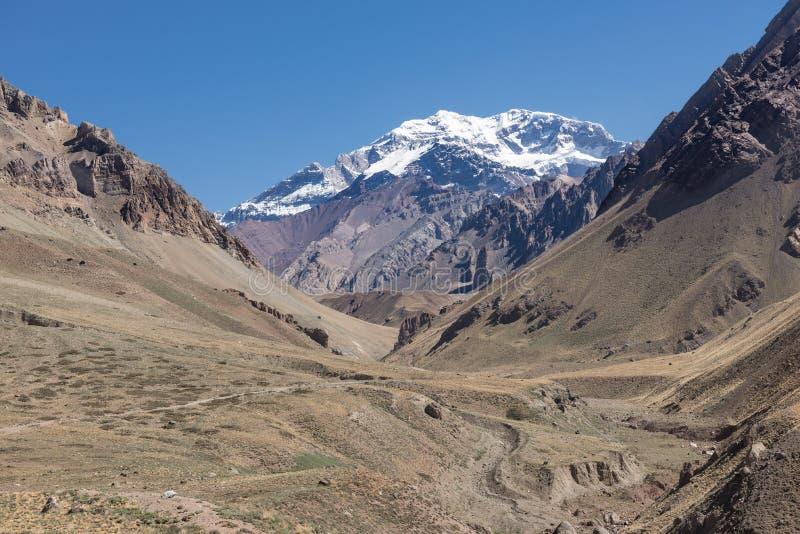 Aventura nas montanhas de Andes fotos de stock royalty free