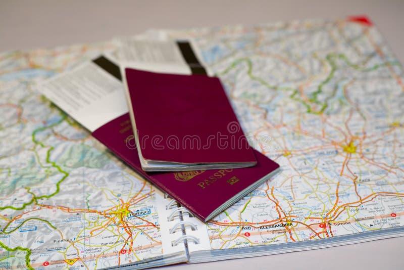 Aventuras do passaporte imagens de stock royalty free