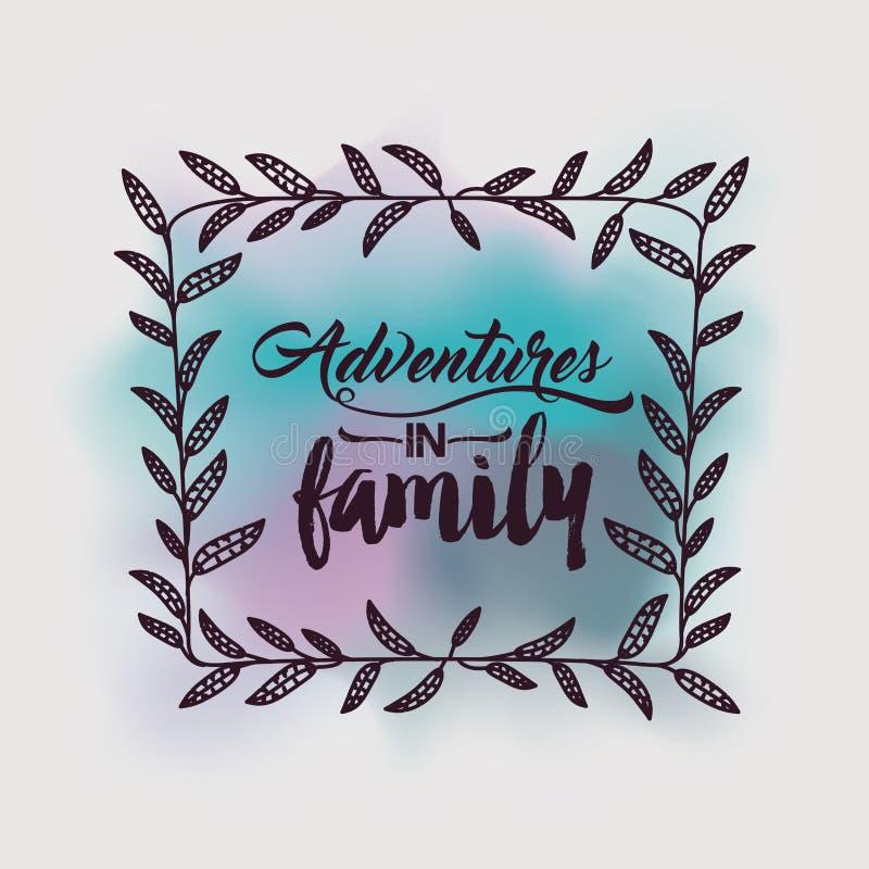 Aventuras en diseño de la familia stock de ilustración