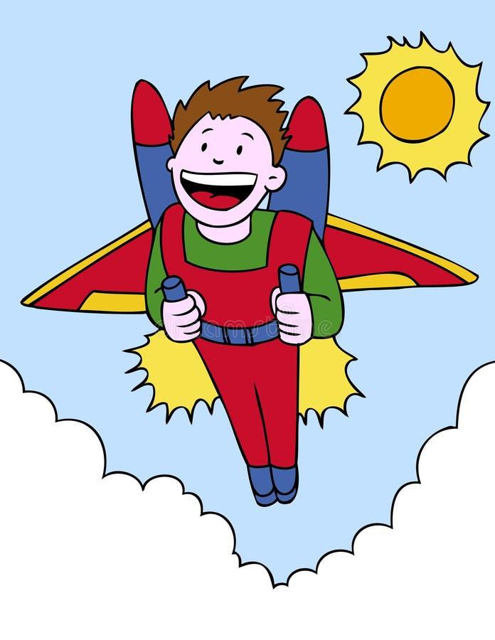 Aventure de Jetpack illustration de vecteur
