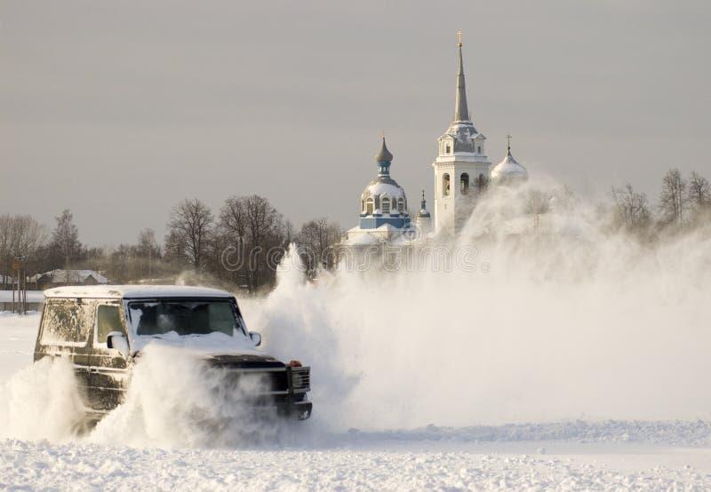 Aventure de l'Allemand en Russie. images libres de droits
