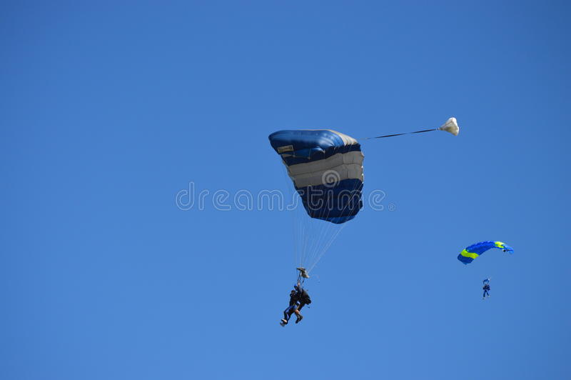 Aventure de Skydiving images libres de droits
