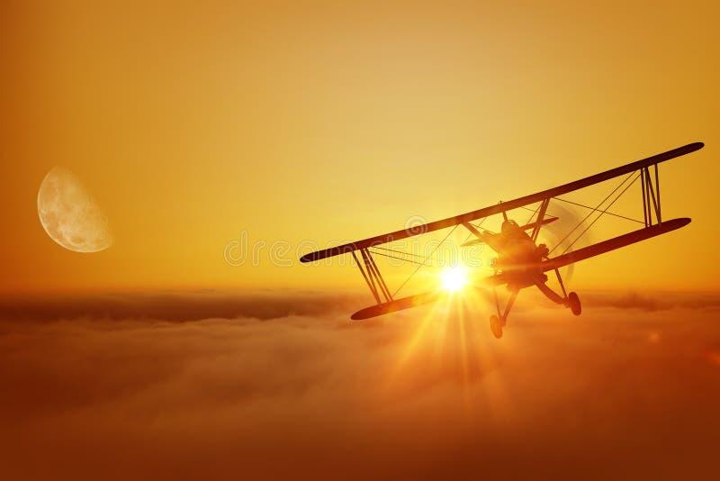 Aventure de vol d'avion photos stock