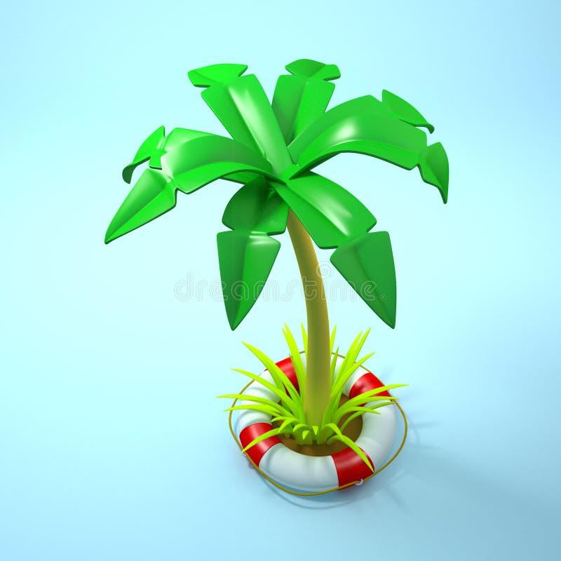 Aventure tropicale sûre illustration libre de droits