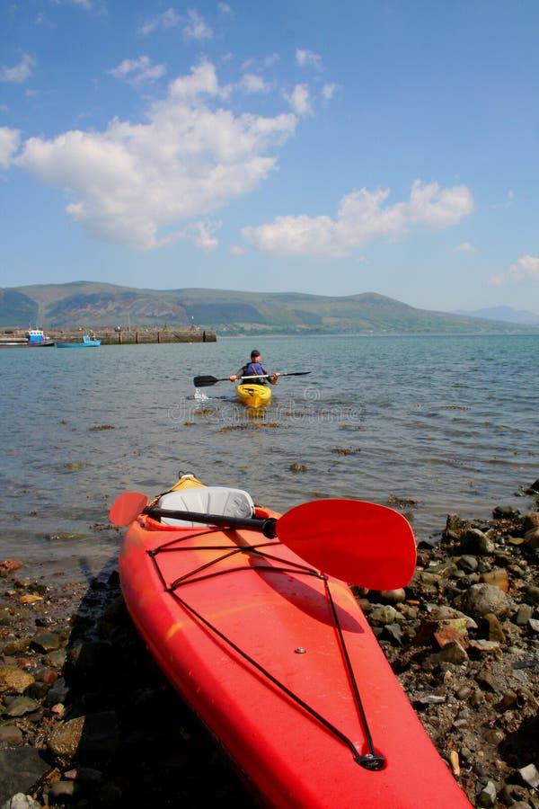 Aventure Watersports de canoë image stock