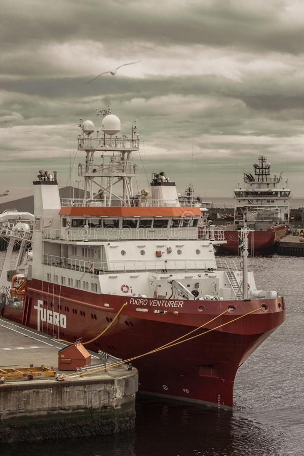Aventurero de Fugro del buque de la encuesta fotos de archivo libres de regalías