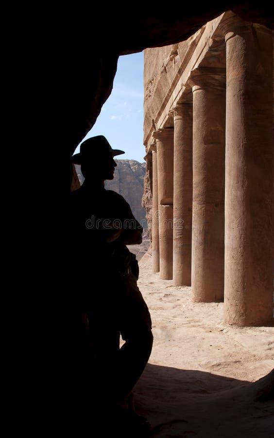 Aventurero en el Petra fotos de archivo libres de regalías