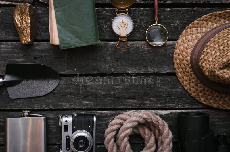 aventurero Viajero Fondo del explorador con el espacio de la copia foto de archivo libre de regalías