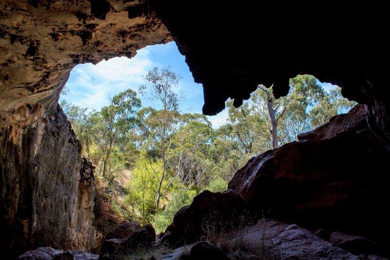 Aventures d'une spéléologie de paysage d'Australien image stock