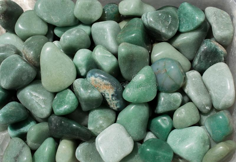 Aventurine gem stone as natural mineral rock. Specimen stock photography