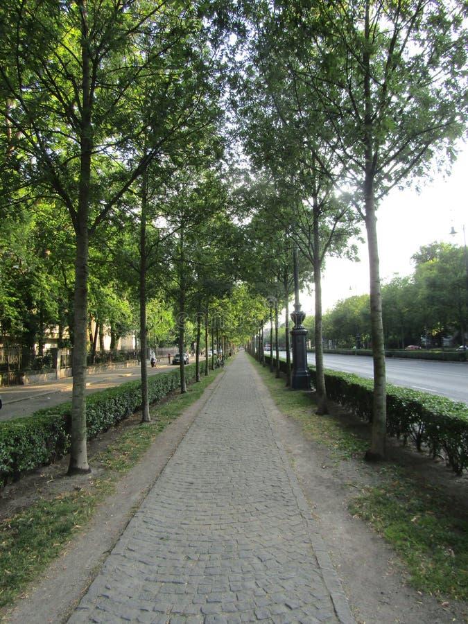 Avenue d'Andrassy, Budapest image stock