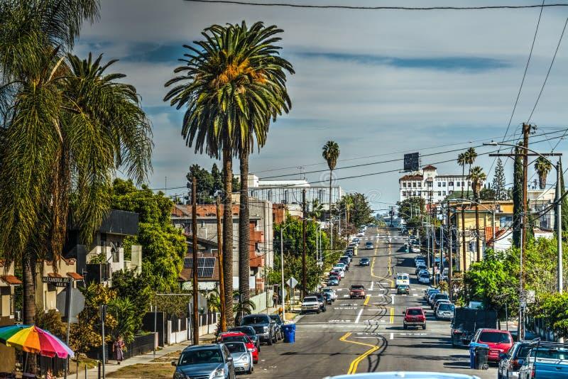 Avenue d'Oakwood à Los Angeles image libre de droits