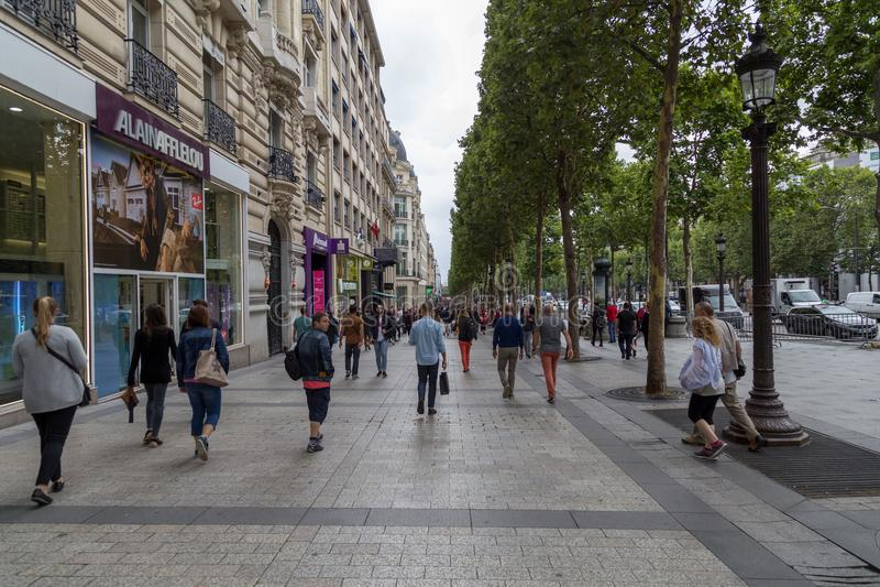 Avenue DE Champs-Elysees, Parijs stock foto's