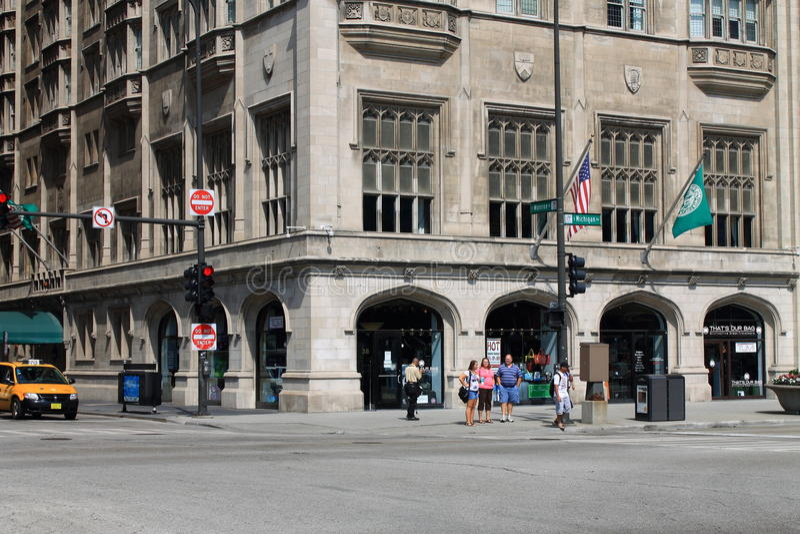 Avenue de Chicago - du Michigan images libres de droits