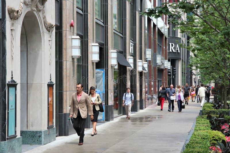 Avenue de Chicago Michigan images libres de droits