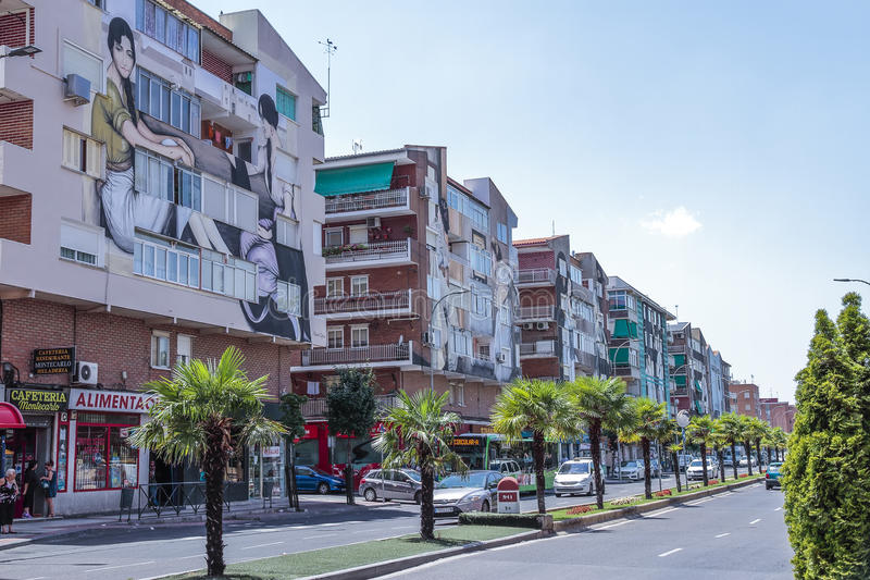 Avenue de constitution en torrejon de ardoz, Madrid, Espagne photographie stock