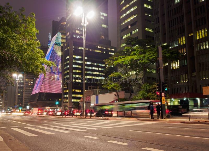 Avenue de Paulista à Sao Paulo, Brésil photographie stock libre de droits