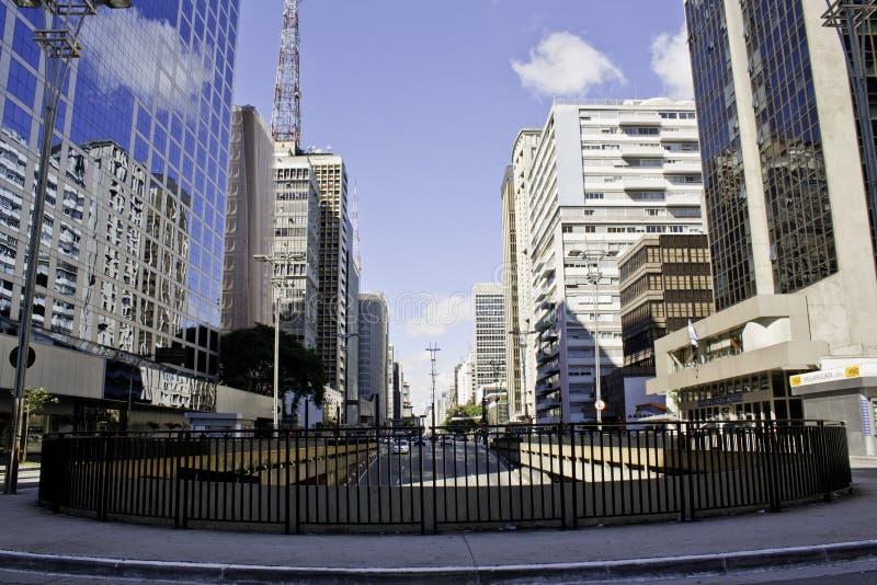 Avenue de Paulista photographie stock libre de droits
