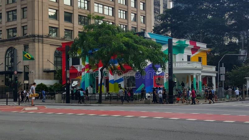 Avenue de Paulista au sao Paulo Brazil photographie stock