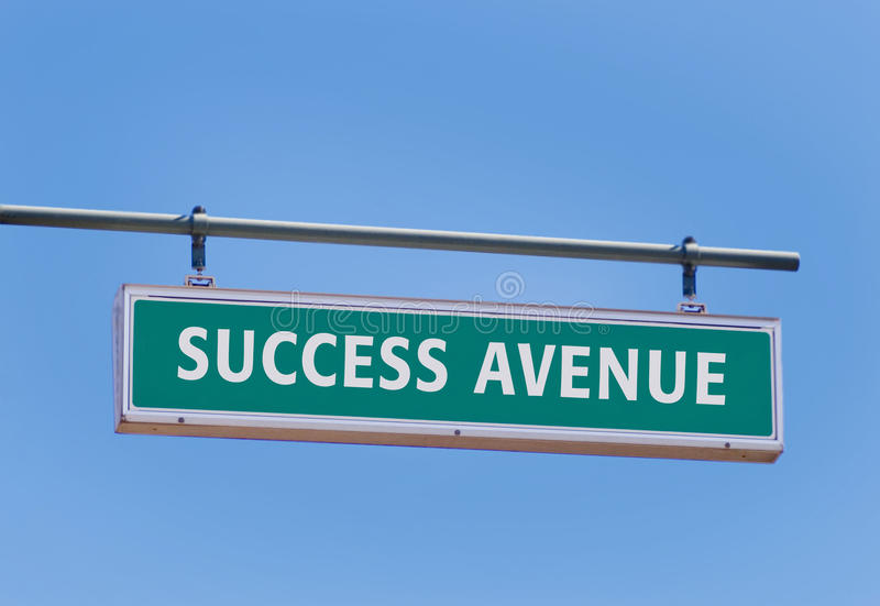 Avenue de réussite photo libre de droits