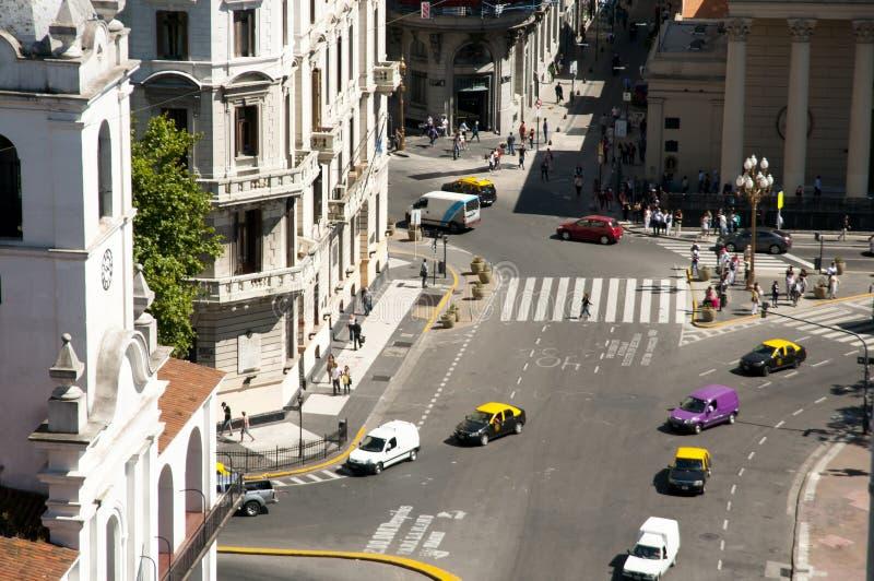 Avenue de Rivadavia Bolivar - Buenos Aires - Argentine image stock