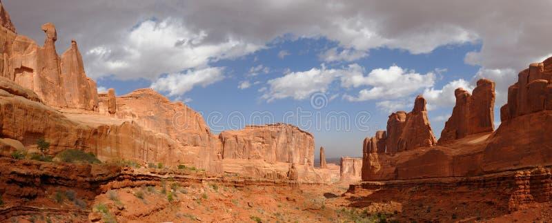 Avenue de stationnement de Moab Utah image libre de droits