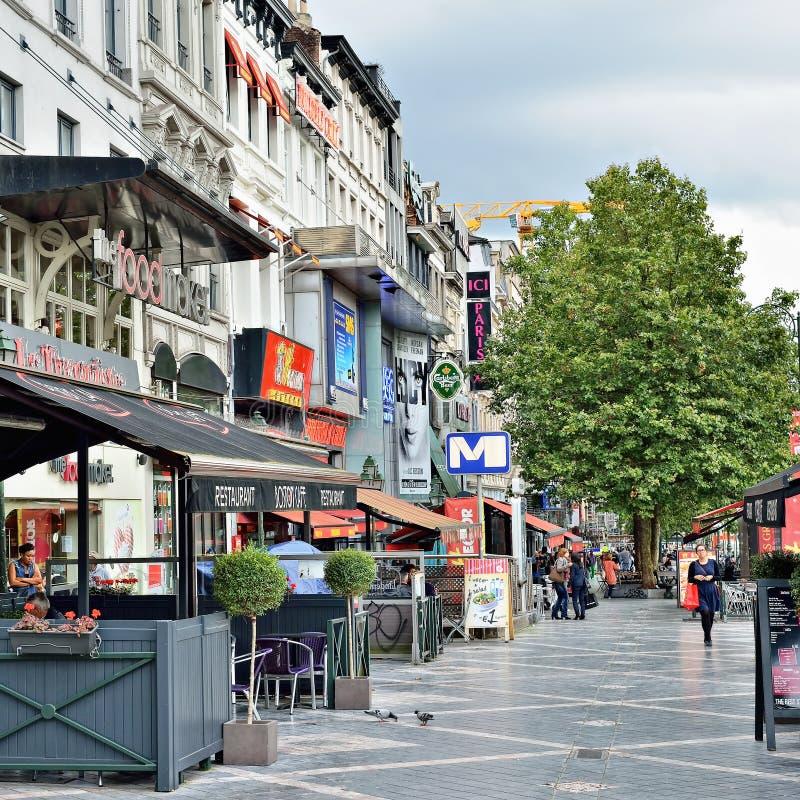 Avenue de Toison d'Or在布鲁塞尔 免版税库存图片