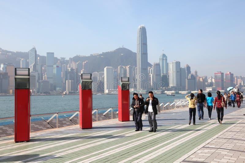 Avenue des étoiles à Hong Kong image libre de droits