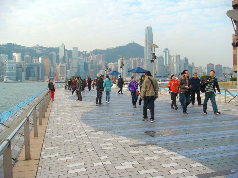 Avenue des étoiles à Hong Kong photos libres de droits
