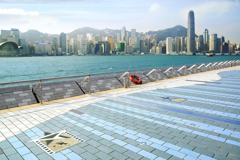 Avenue des étoiles. Hong Kong images libres de droits