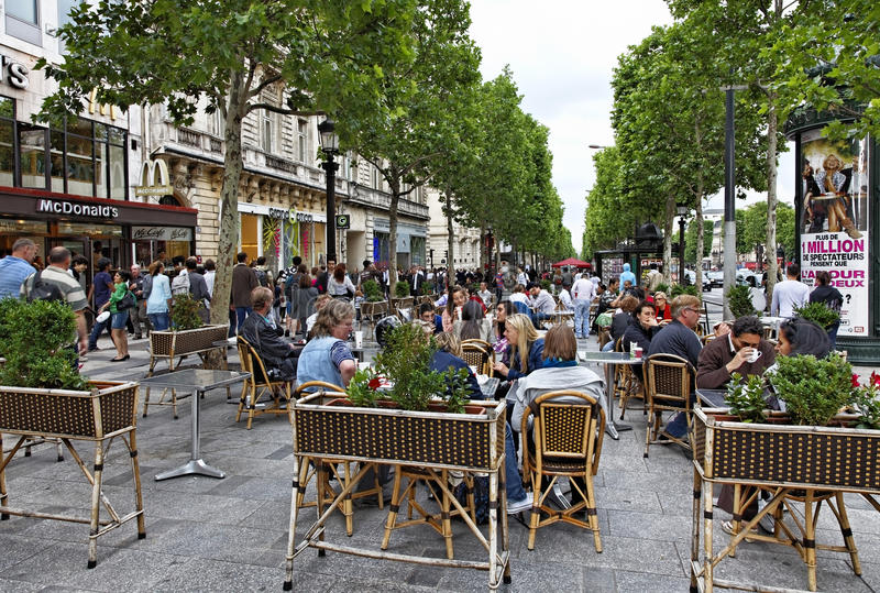 Avenue des Champs-Elysees royalty free stock photography