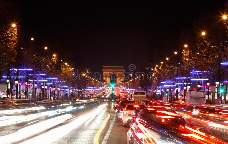Avenue des Champs-Elysees royalty free stock photo