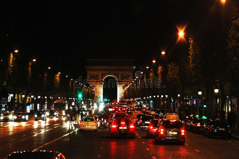 Download Avenue des Champs Elysees editorial photo. Image of dusk - 30148556
