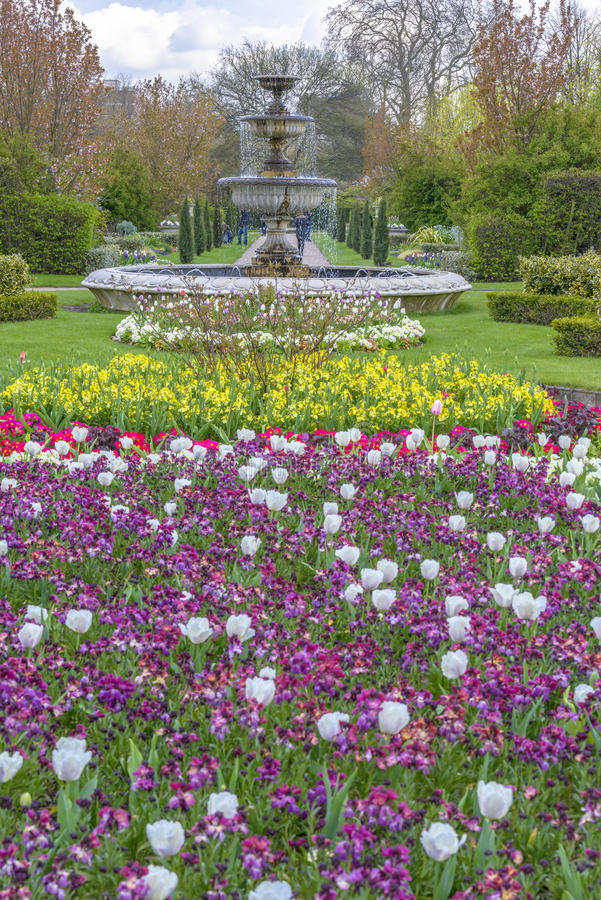 Avenue Gardens at the Regent's Park in London royalty free stock photo