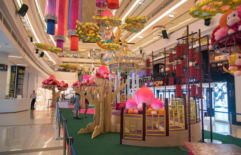 Avenue k shopping mall interior editorial stock photo for Interior decoration for new year