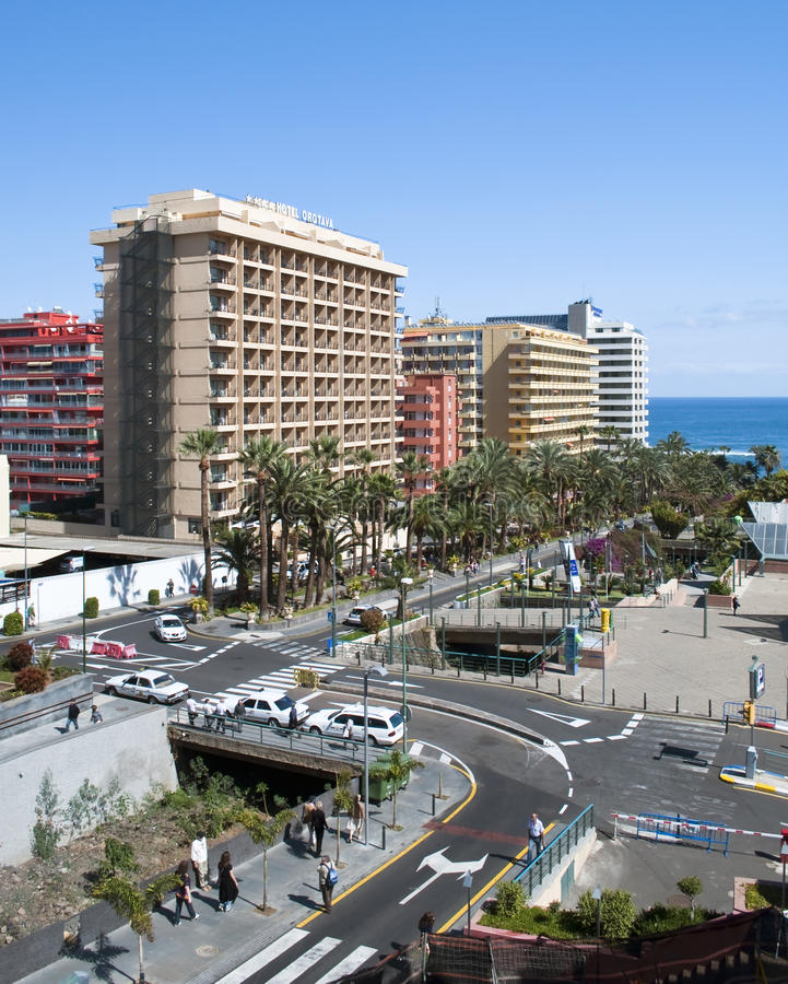 Download Avenue with palm trees editorial stock photo. Image of spain - 24362118
