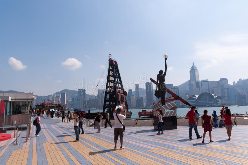 Avenue of Stars in Hong Kong royalty free stock image