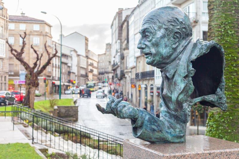 Aveny av Juan Carlos I i den Santiago de Compostela Galicia regionen, Spanien arkivbild