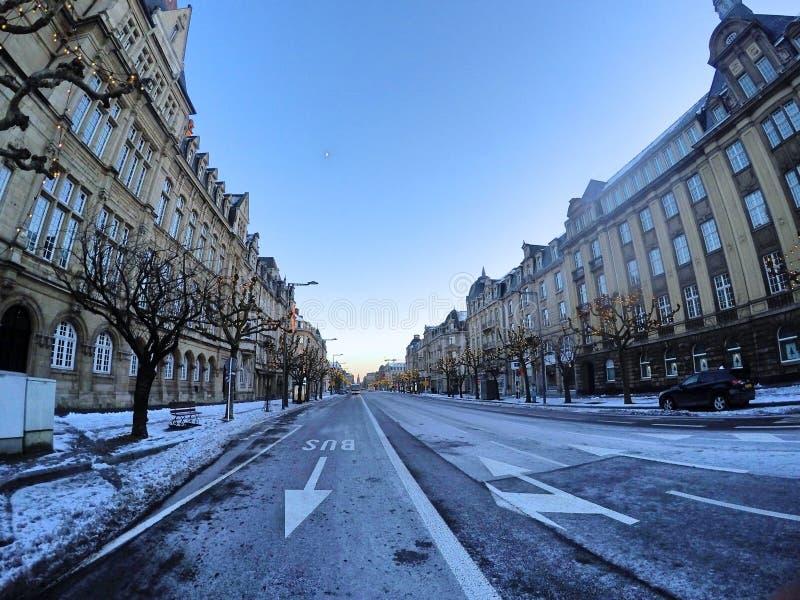 Aveny de La Liberté - Luxembourg royaltyfri foto