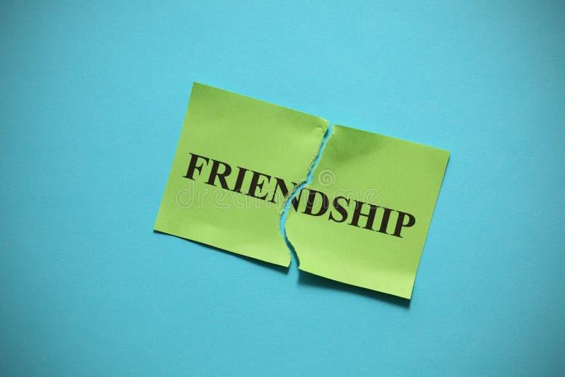 Avería de la amistad imagen de archivo libre de regalías