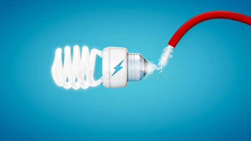 Aver bulb on modern blue background. vector illustration