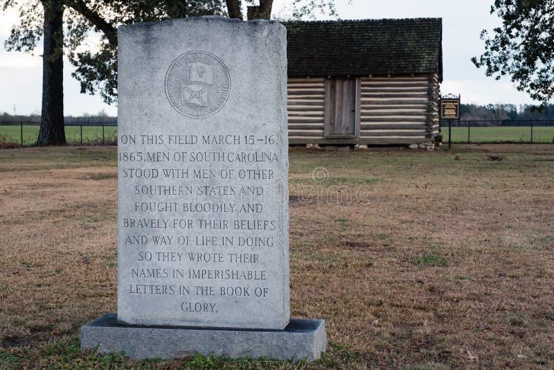 Averasboro战场,NC大约2018年:内战战场和纪念碑 库存图片