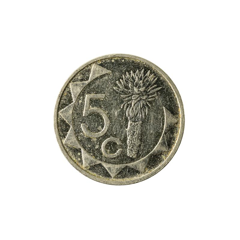 avers 2009 för 5 namibian centmynt arkivbild